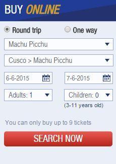Peru Rail screen clipping