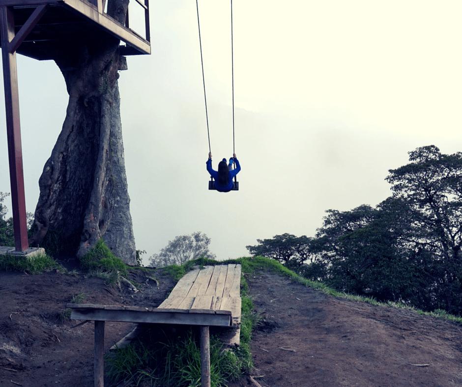 Swinging at La Casa Del Arbol Baños