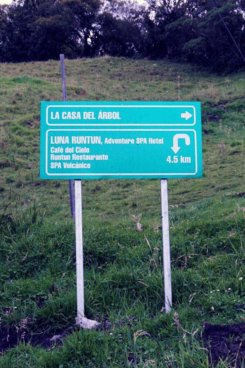 Follow the signs to La Casa Del Arbol Baños