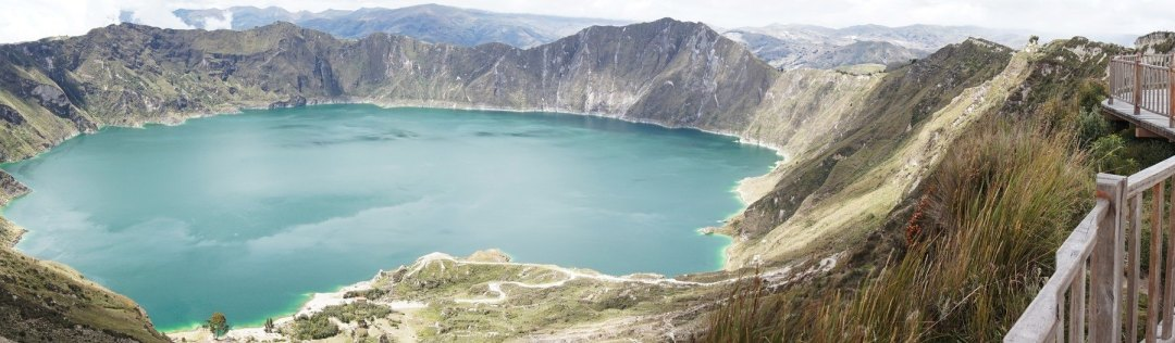 Lake Quilotoa from the lookout point