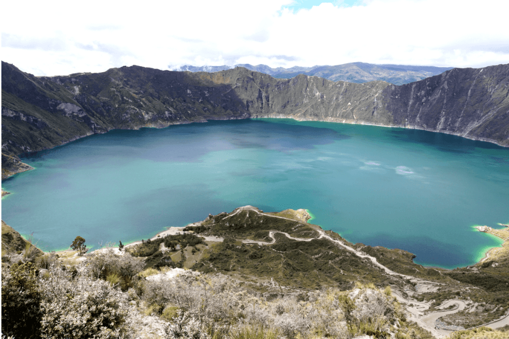 Lake Quilotoa is one of the most beautiful places in Ecuador