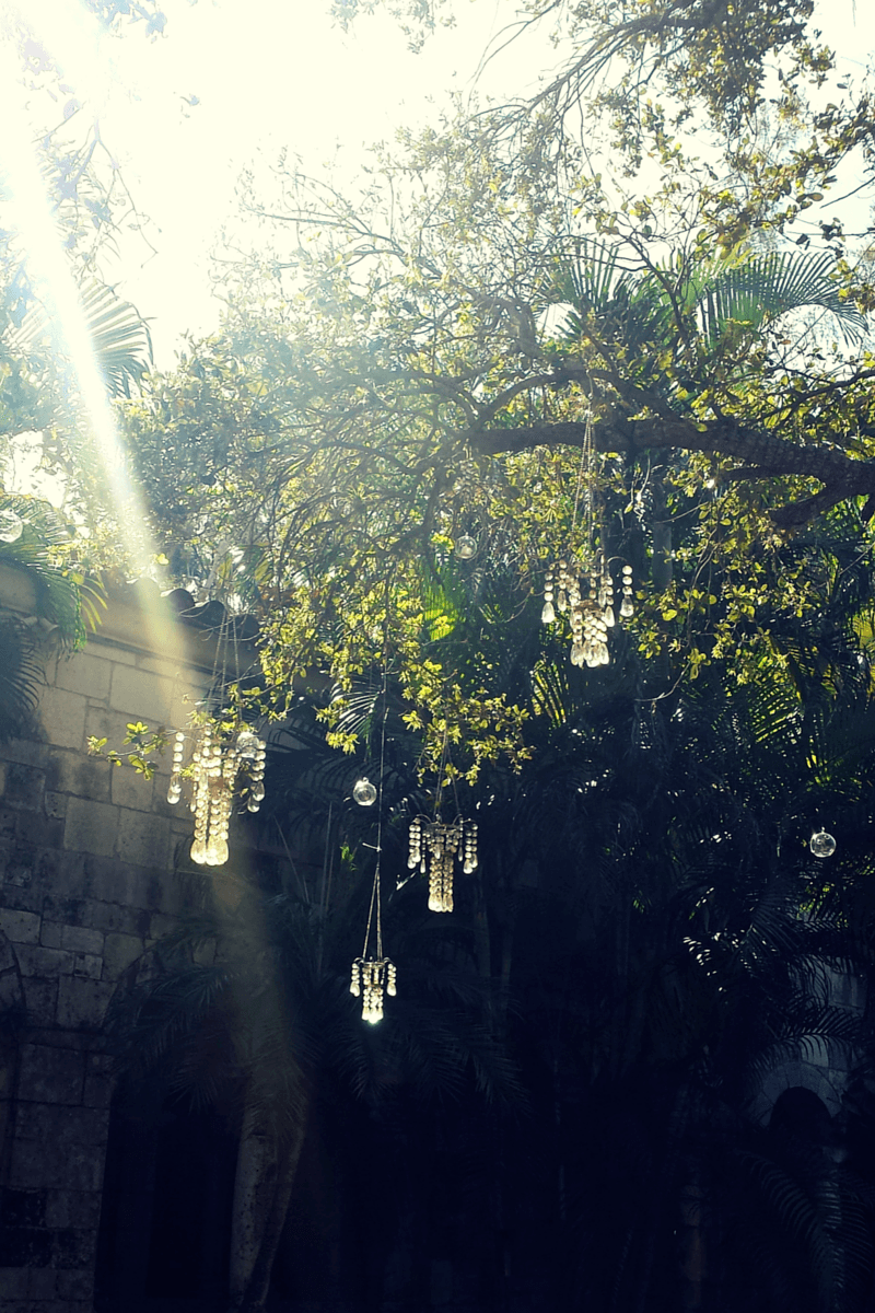 above the well inside the Ancient Spanish Monastery in North Miami Beach