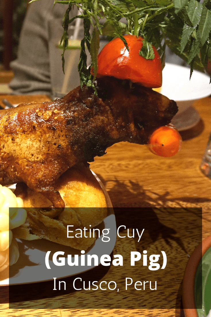 Eating cuy (guinea pig) is something every visitor to Peru should do and we found the perfect restaurant in Cusco to do it!