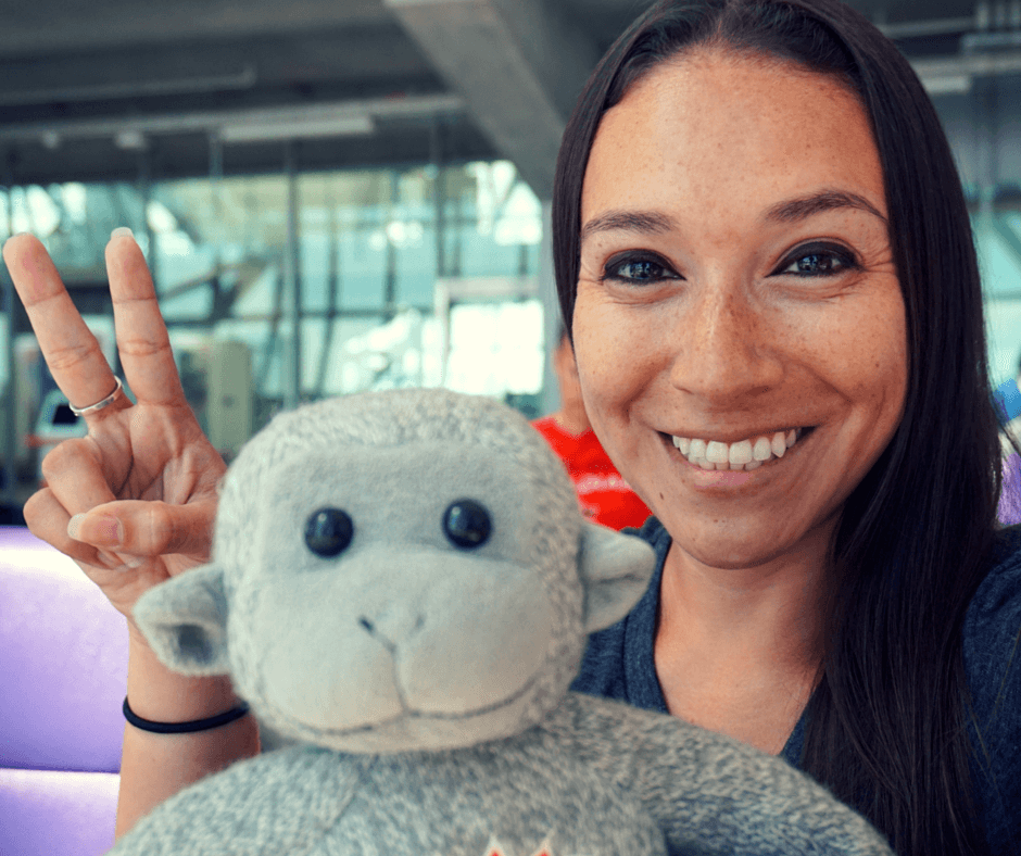 Vicky and Buddy in Bangkok airport