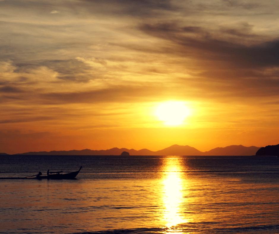 Sunset in Ao Nang Thailand