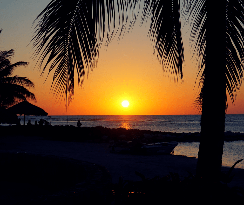 Sunset in Montego Bay Jamaica