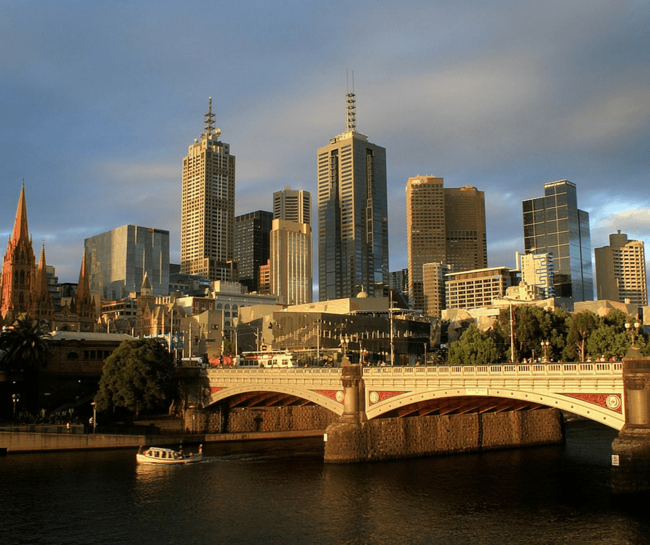 View of Melbourne Australia skyline