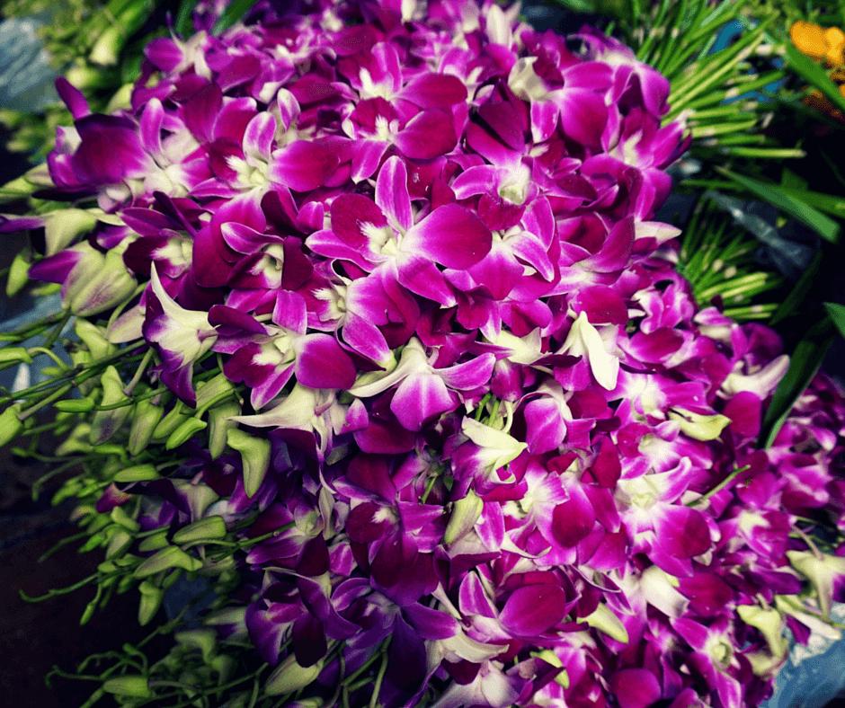 Flowers at Pak Khlong Talat in Bangkok