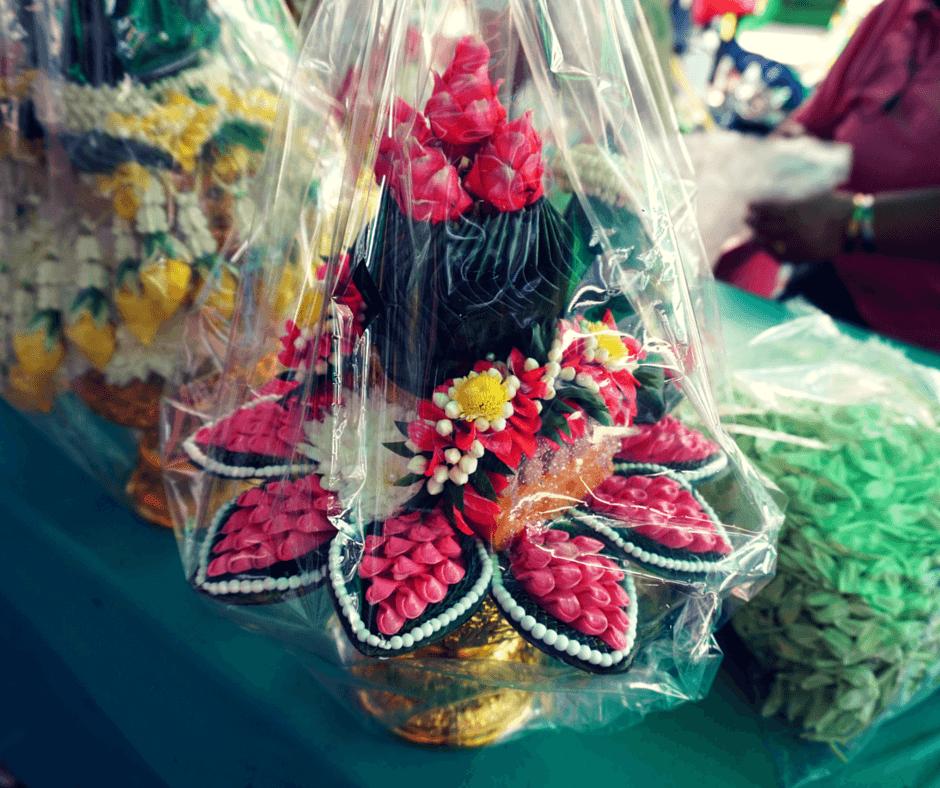 Flower arrangements at Pak Khlong Talat in Bangkok