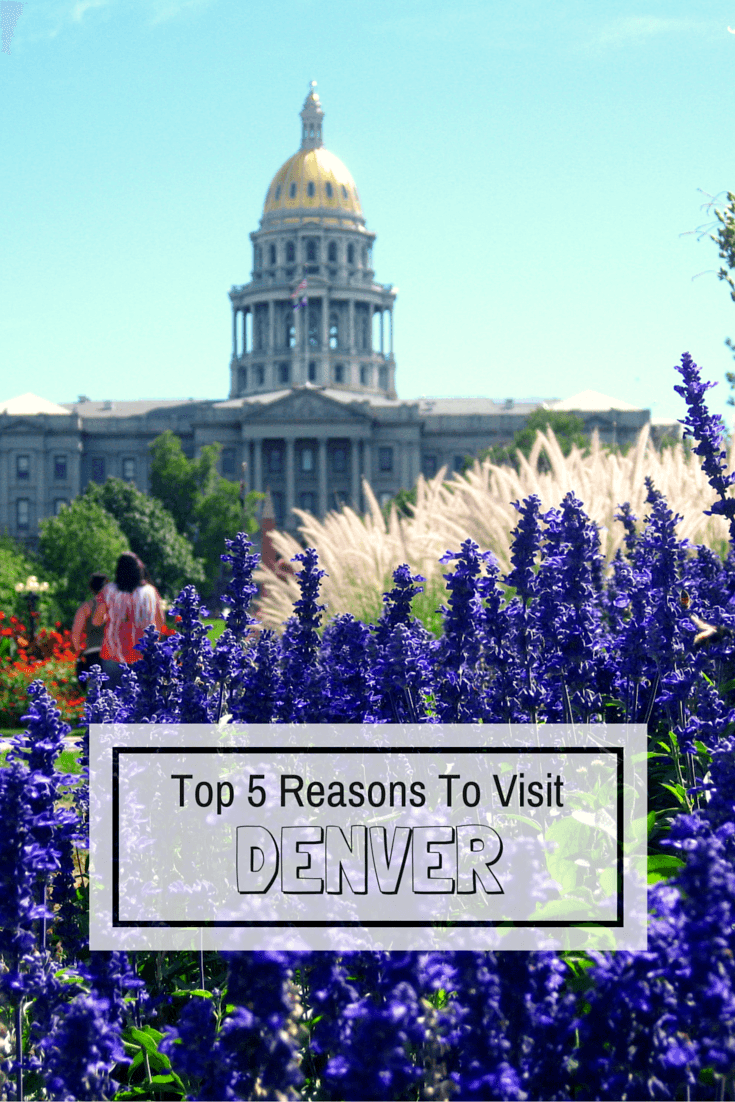 The Mile High City has a lot to offer, including great food and breathtaking nature! Here are our top 5 reasons to visit Denver, Colorado.