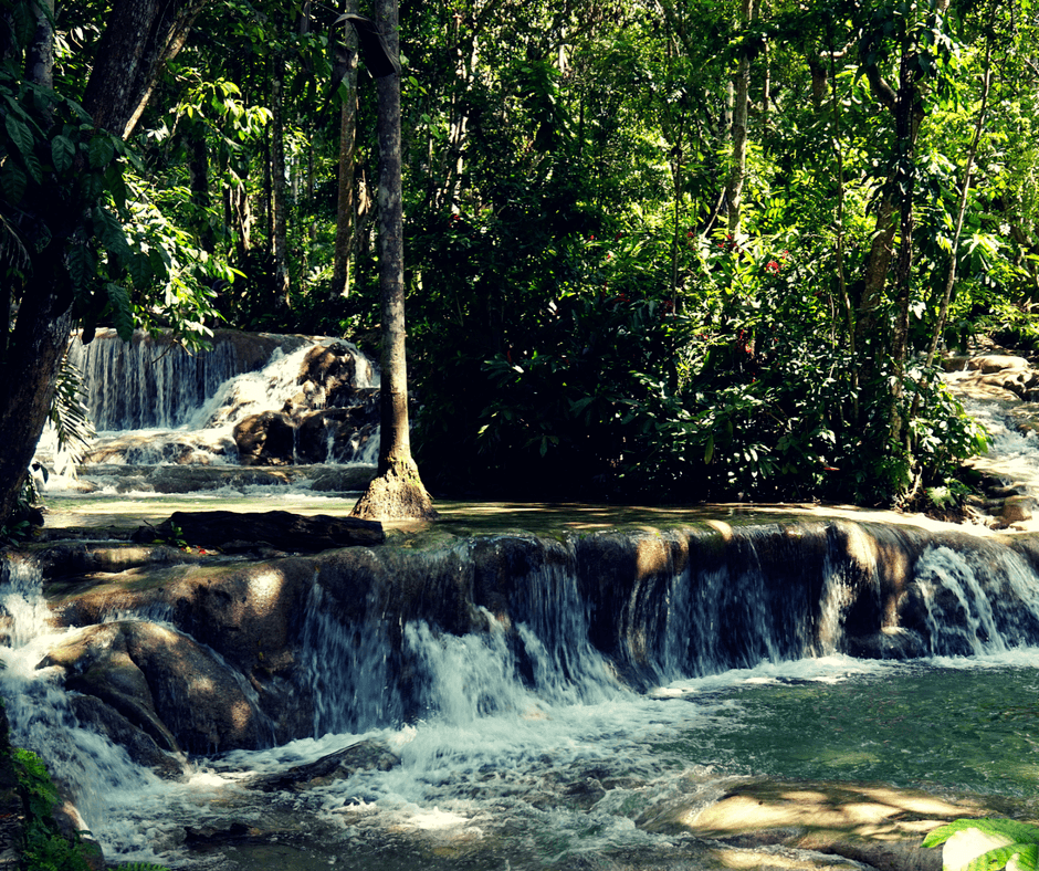 Dunn's river falls is one of the more popular places in Jamaica