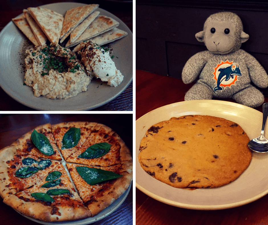Pizza and cookie at the pine box