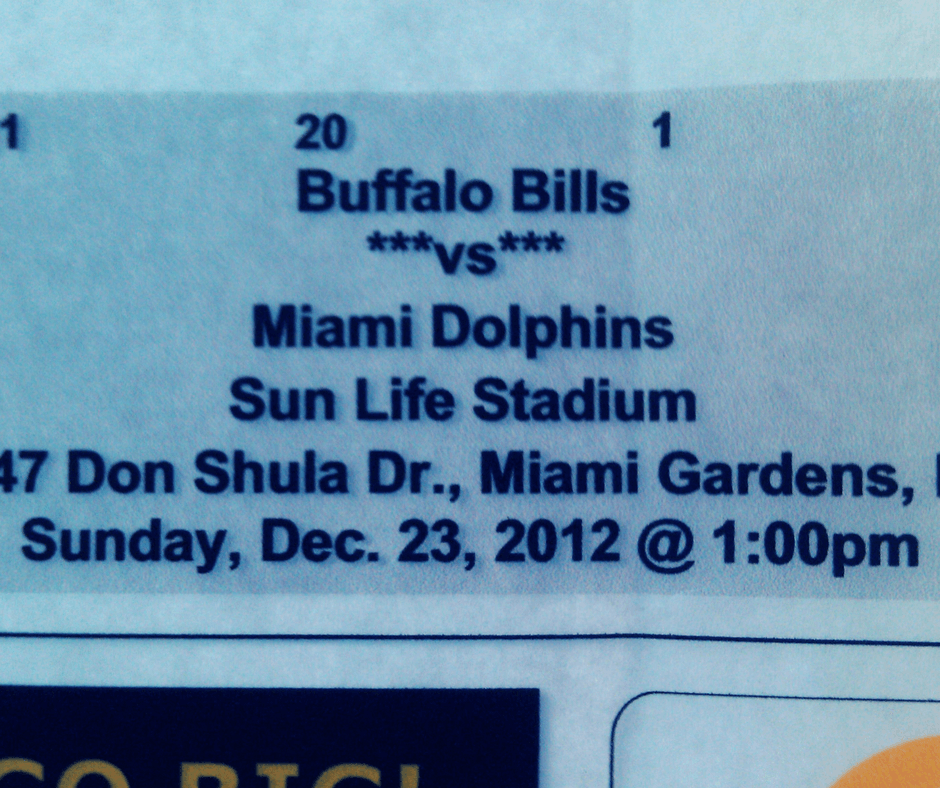 Ticket to a Miami Dolphins game