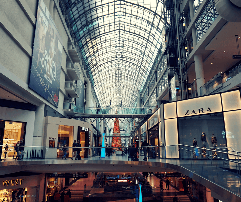 Inside the Toronto Eaton Centre