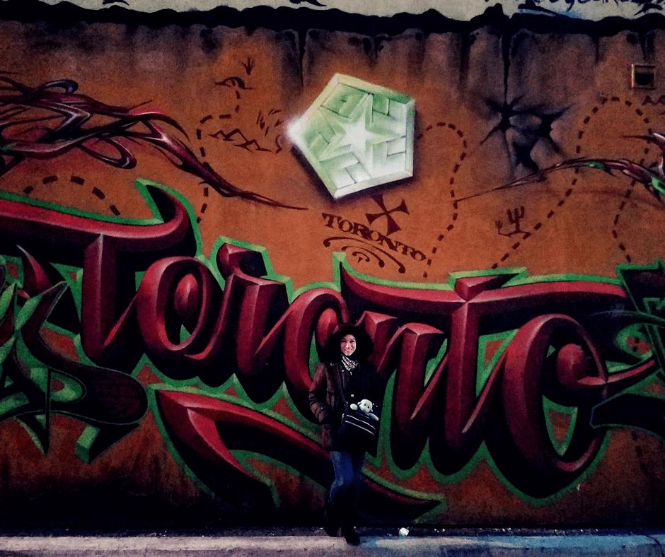 Toronto street art in graffiti alley