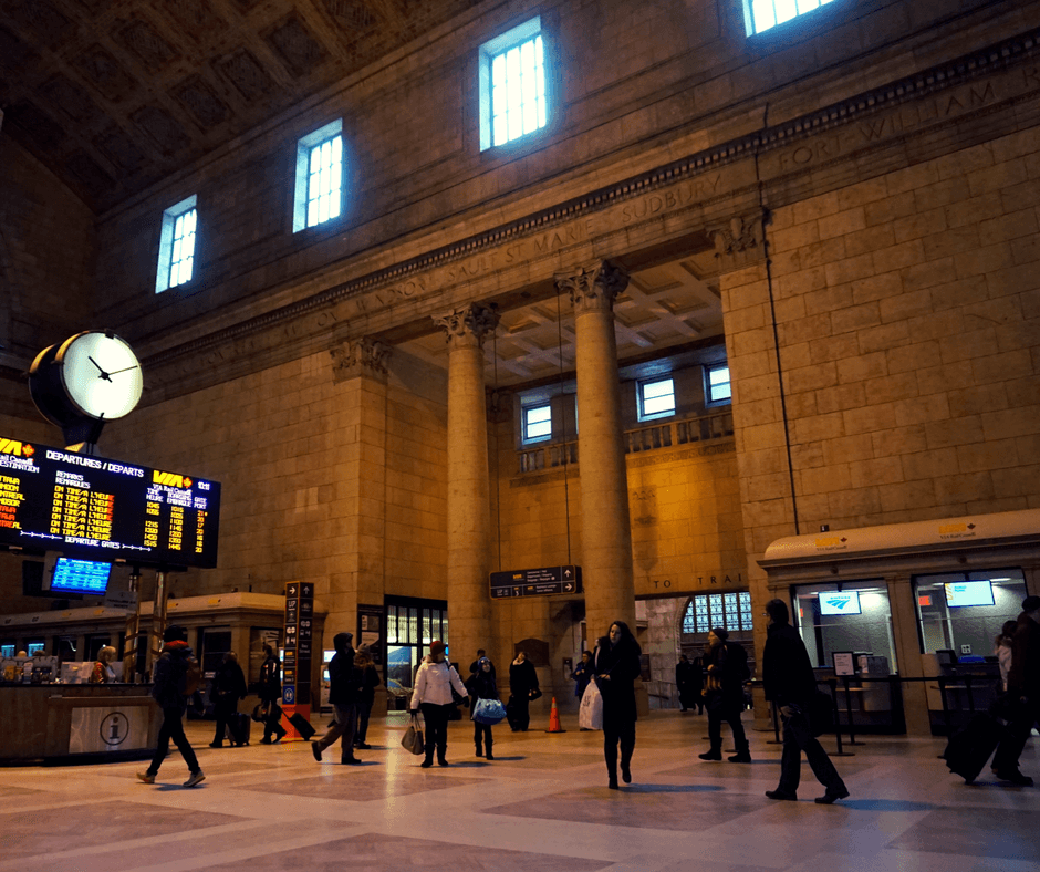 Inside Union Station in Toronto