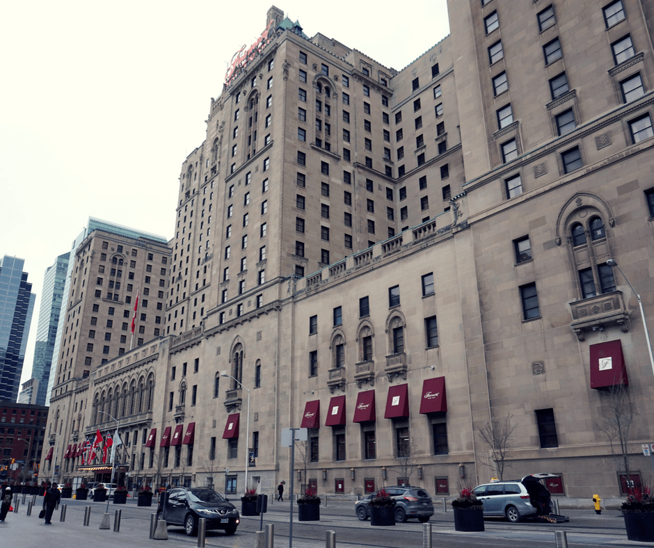 Outside the Fairmont Royal York Hotel in Toronto