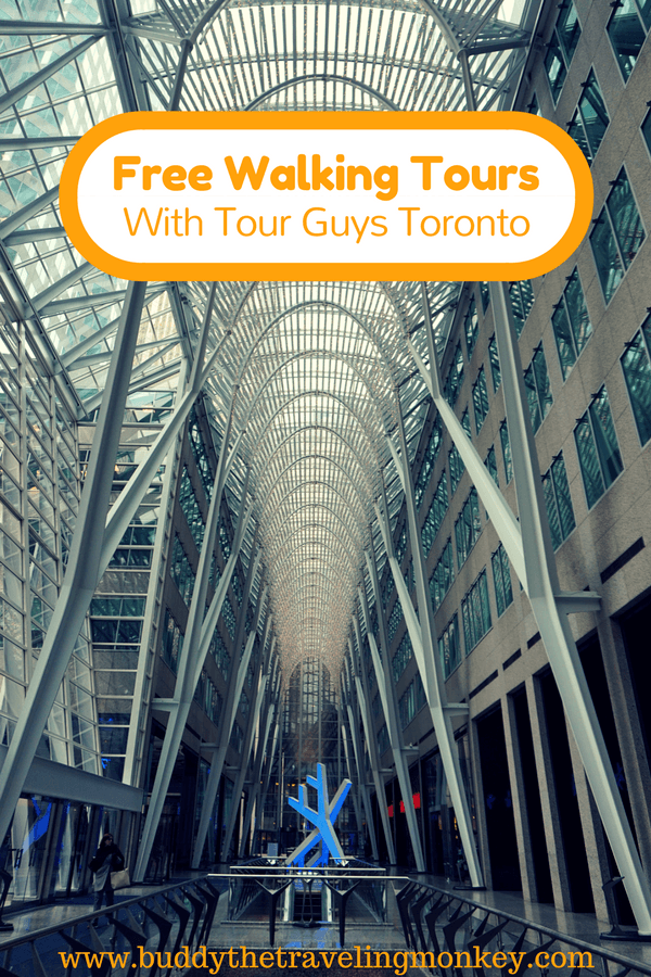 Tour Guys offers free Toronto walking tours that are fun, informative, and focus on architecture, current events, and Toronto's underground city.