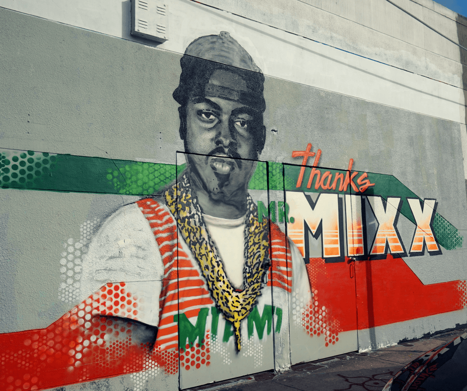 Mr mixx of 2 live crew Mural in Wynwood