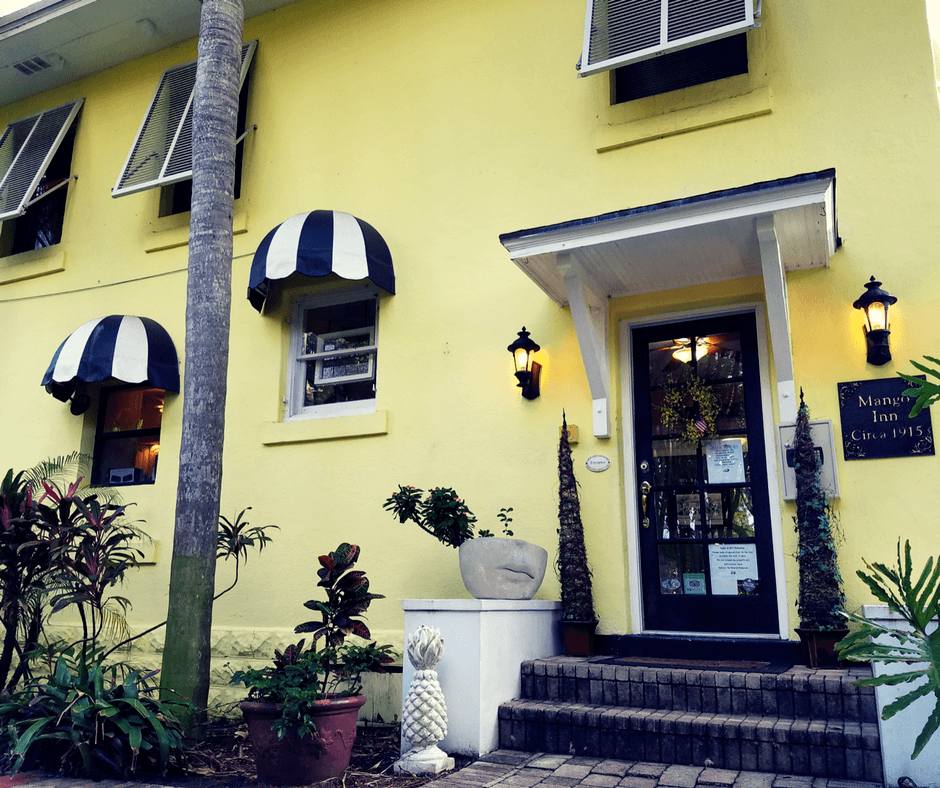 Outside main building of the Mango Inn