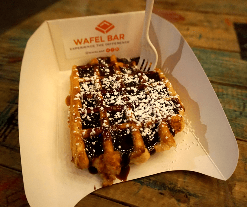 Belgian Chocolate waffle from Wafel Bar
