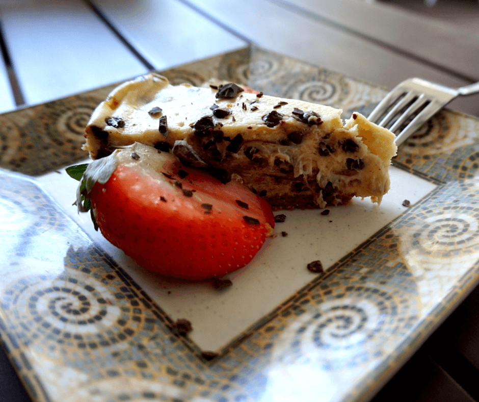 chocolate chip cheesecake from The Greenhouse Bistro & Market