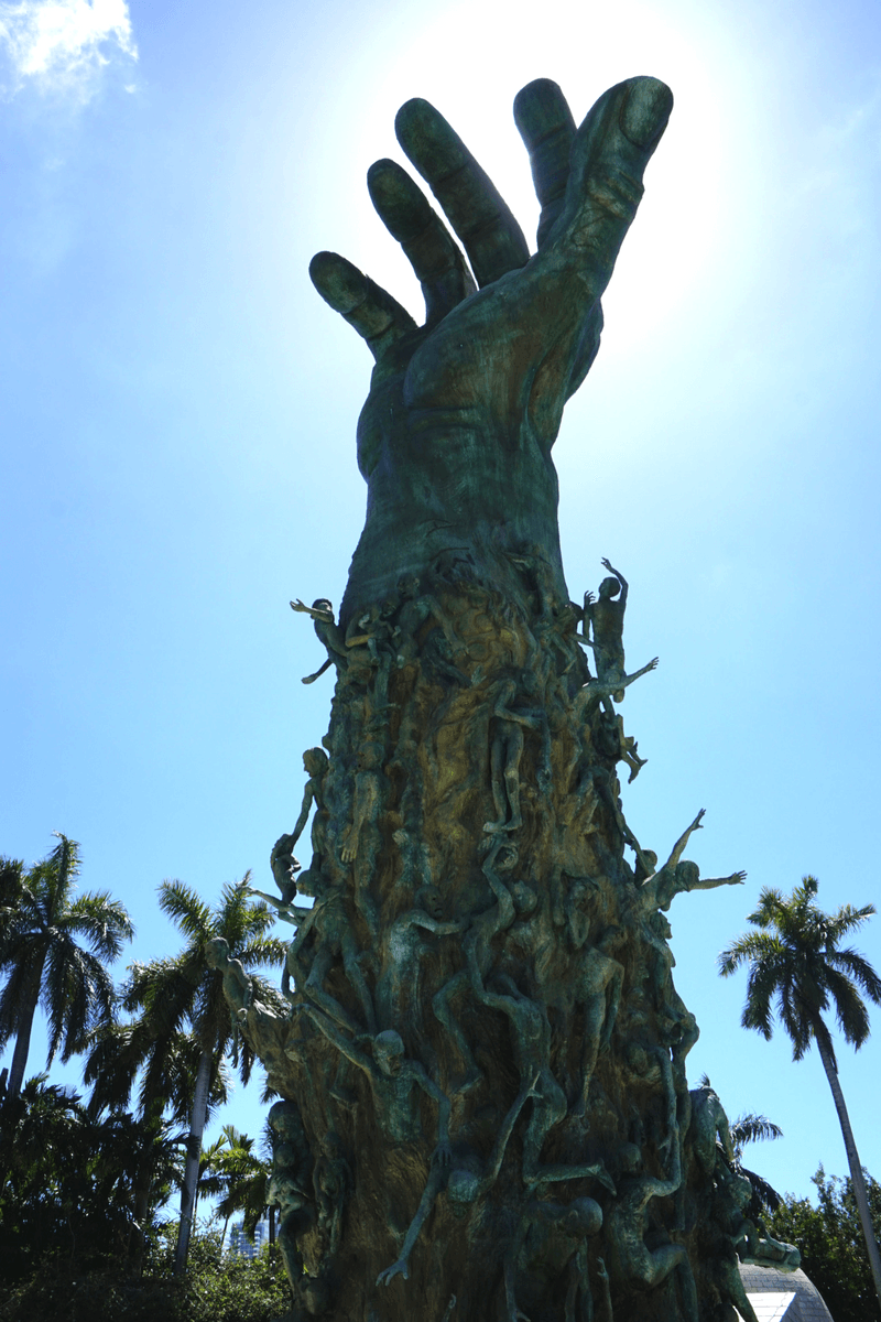 Outstretched arm at the holocaust museum in miami beach