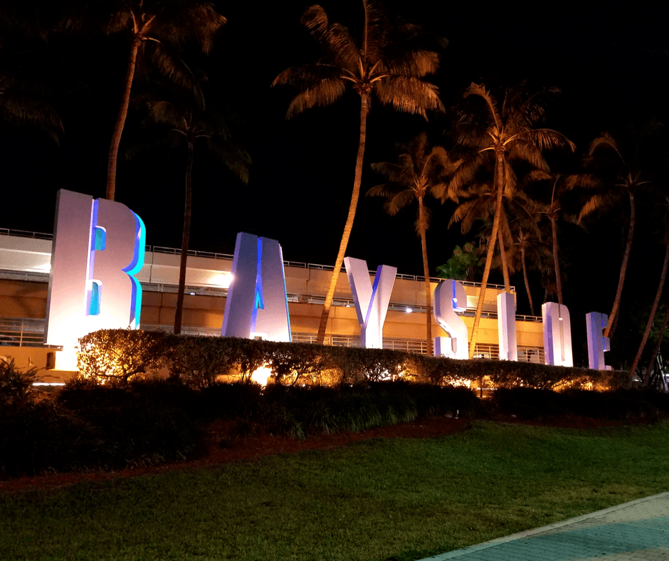 Bayside sign in Miami