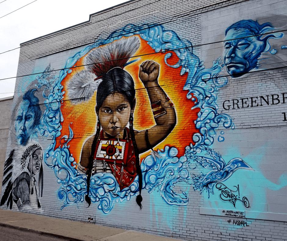 mural in the market native american girl by Jan Nagalski