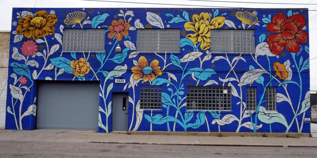 mural in the market by Ouizi