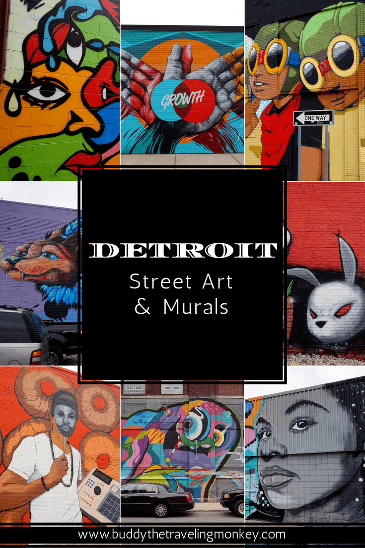 Detroit's street art scene is on the rise & one of the best places to view pieces done by local & international muralists is Eastern Market.