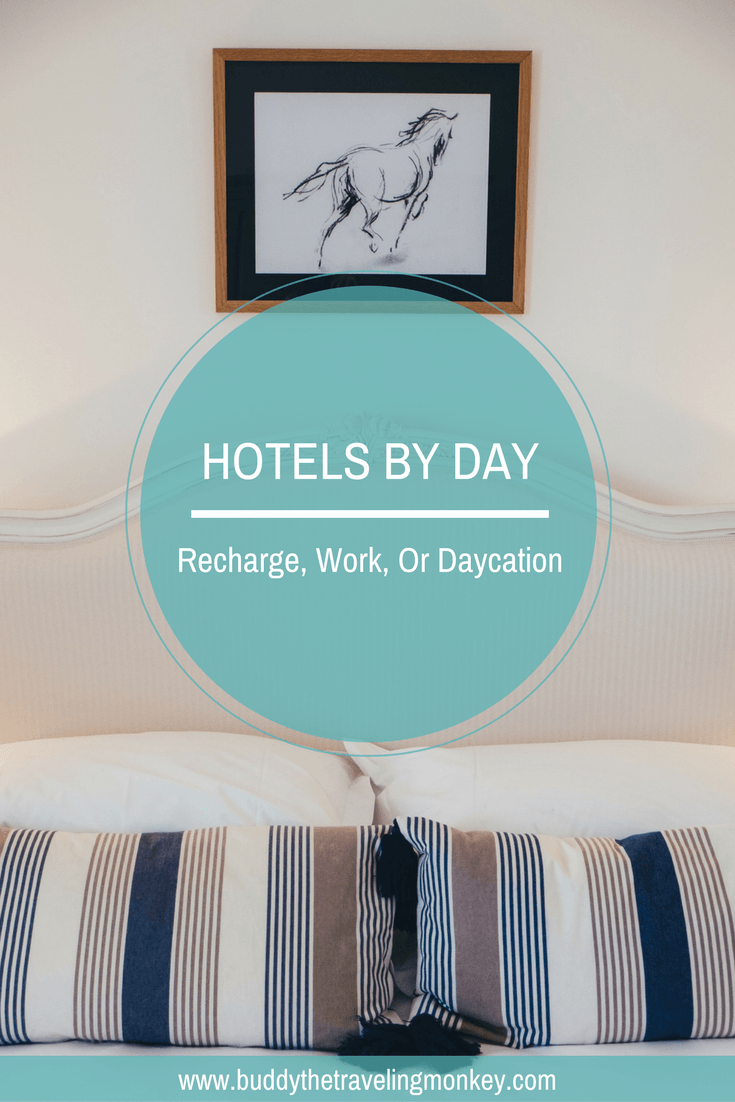 Hotels By Day is a convenient and inexpensive way to survive a long layover or to have a daycation in your own backyard.