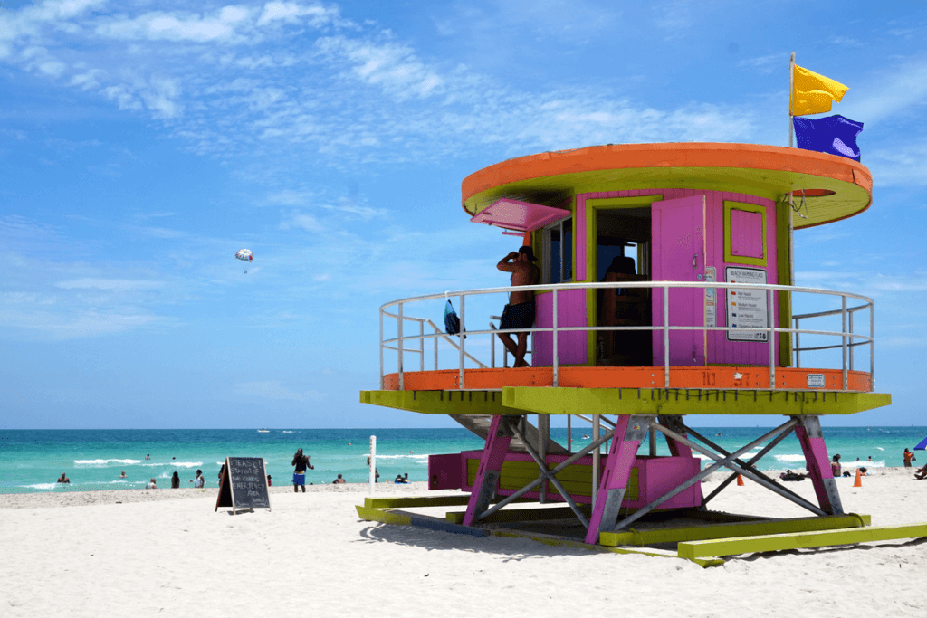 South Beach life guard stand