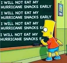 Hurricane snacks meme