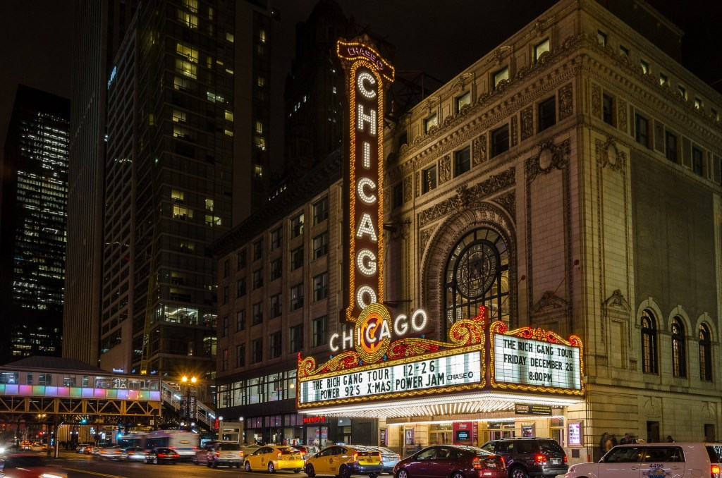 Chicago Theater sign