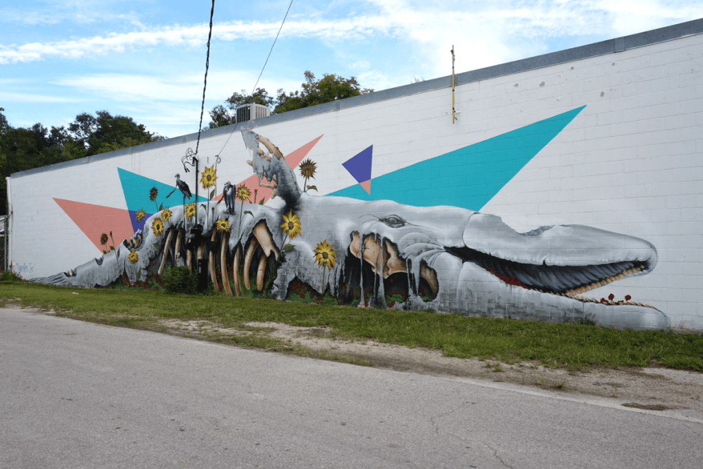 whale mural in Gainesville