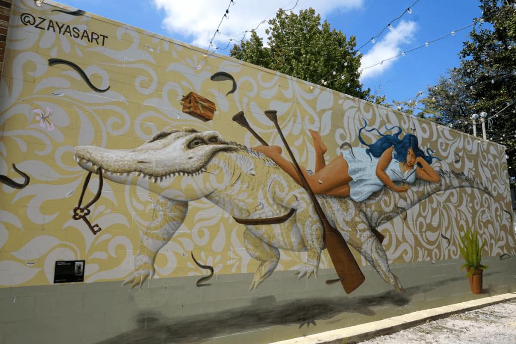 David Zayas mural in Gainesville