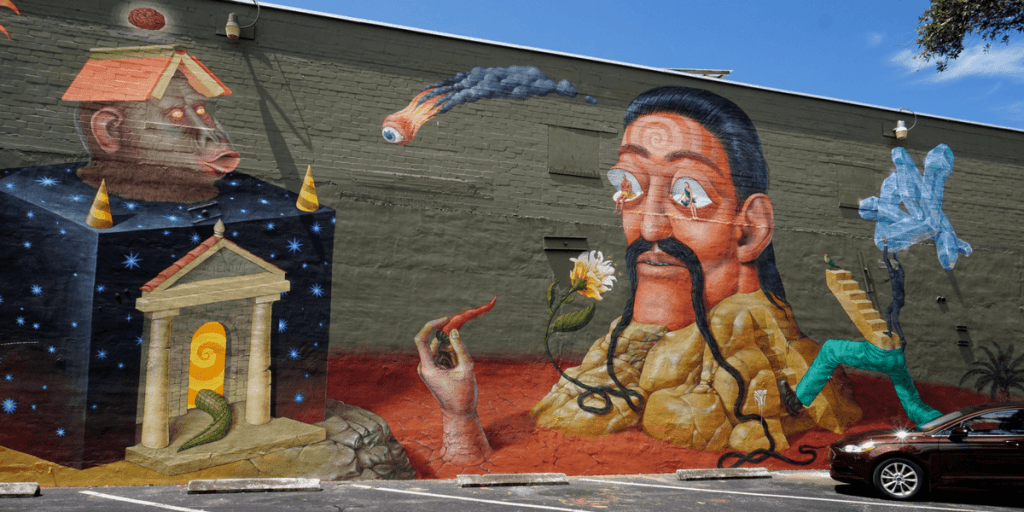 Interesni Kaski mural in Gainesville