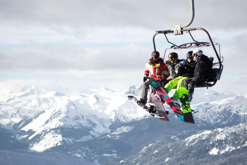 Snowboarding in Whistler