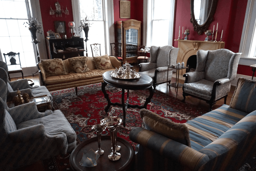 One of the sitting rooms inside Duff Green Mansion