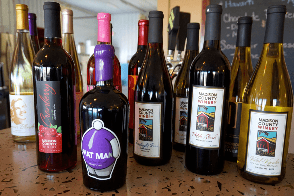 Great selection of wines at Madison County Winery