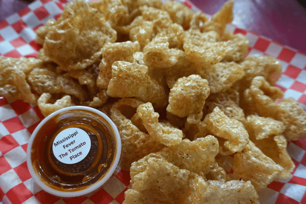 Fried Pork Rinds at The Tomato Place in Vicksburg MS