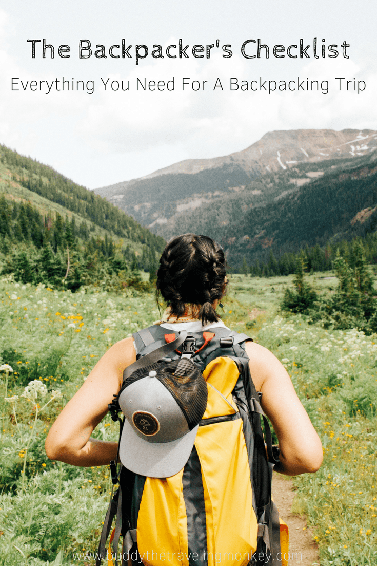 If you're planning your first backpacking trip, figuring out what to pack may be a bit overwhelming. This backpacker's checklist will help!