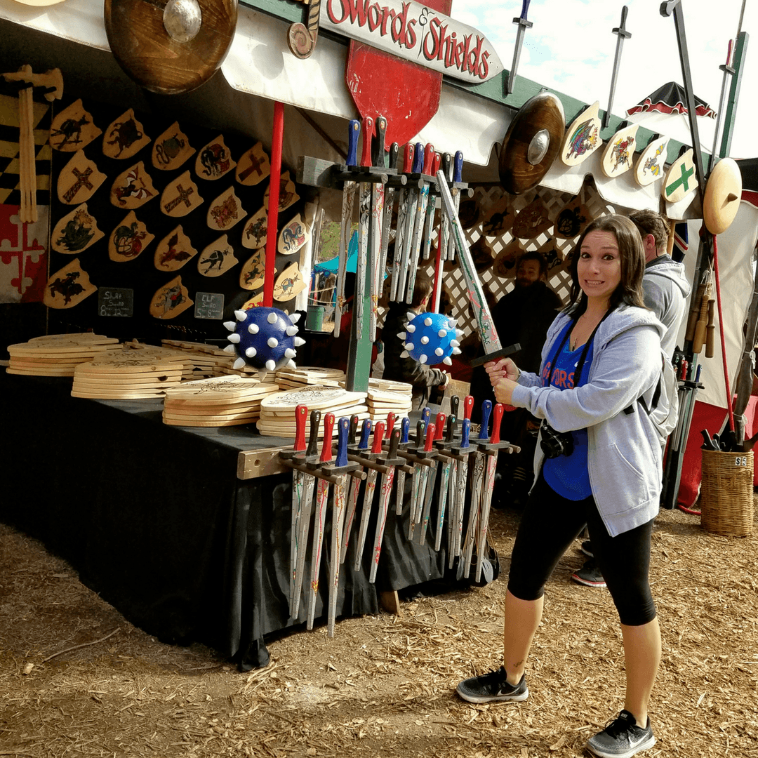 Shopping for swords at the Hoggetowne Medieval Faire