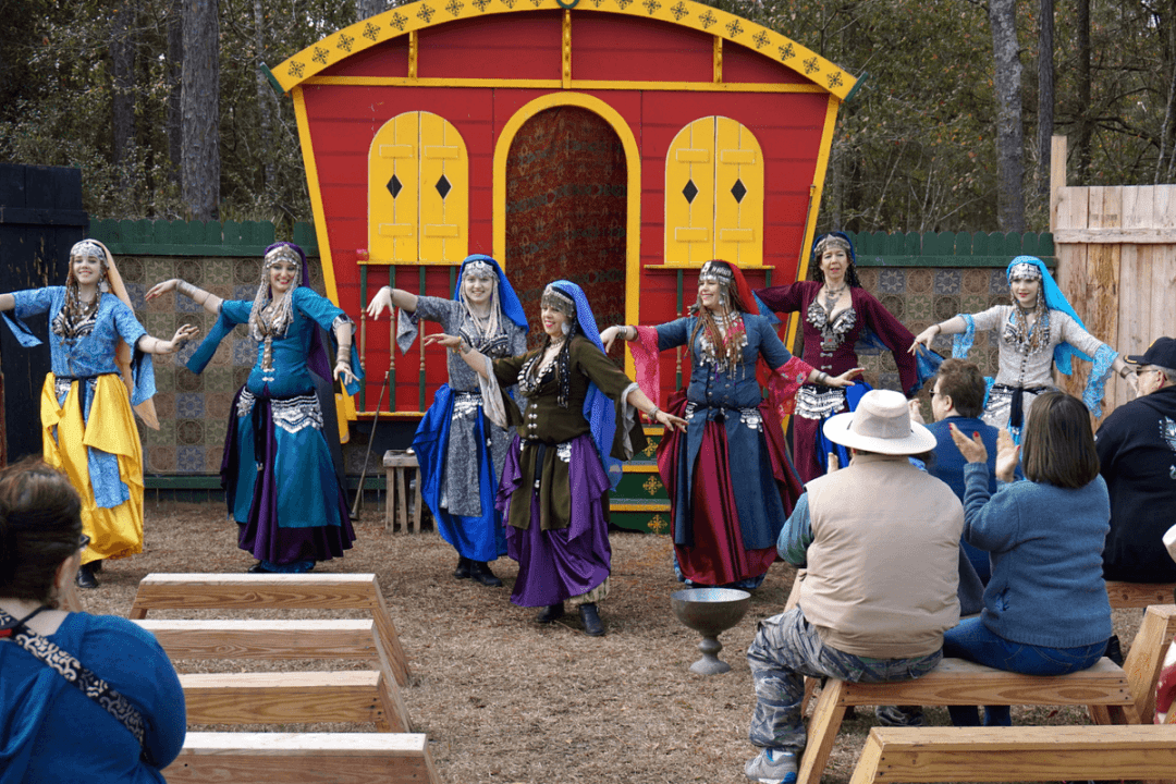 Gypsy dancers at the Hoggetowne Medieval Faire