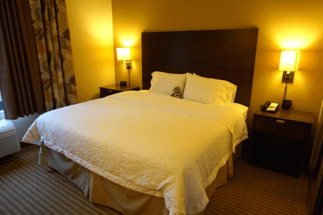 Our King Suite at the Boynton Beach Hampton Inn
