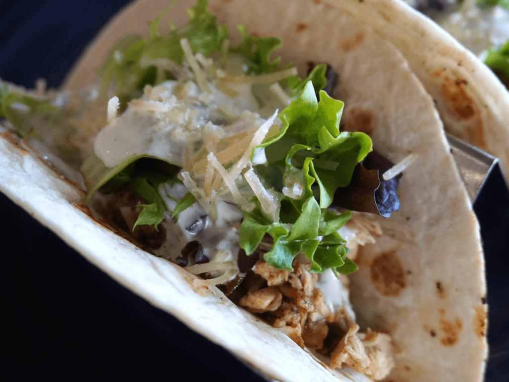Chicken Ranch Tacos at Blue Blood Brewing