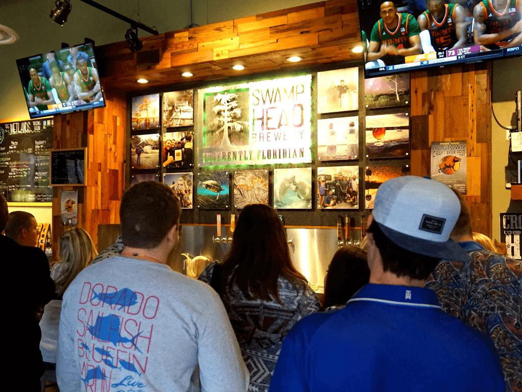 "The Swamp Head Brewery tasting room is called ""The Wetlands"""