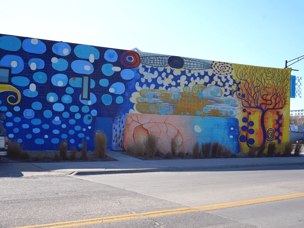 Constellation Studios Mural in Lincoln