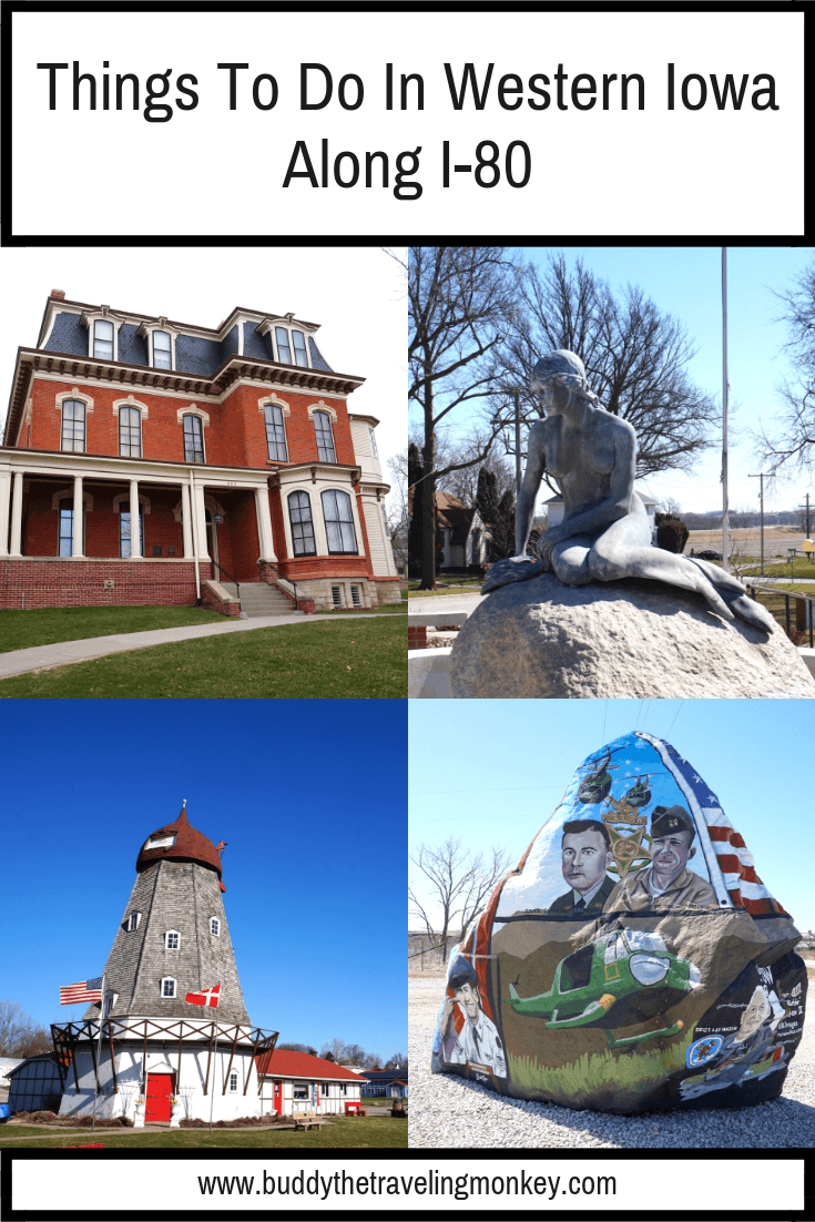 Click to see the top things to do in Western Iowa along I-80. You'll find historic homes, a Danish windmill, and even patriotic boulders!